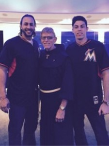 Father Joe with the Marlins